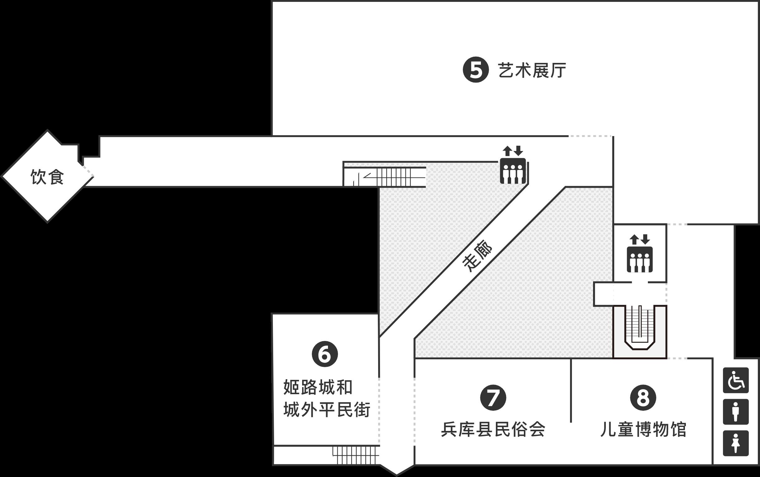 歴史博物館 2階のフロアマップです。