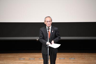 開会挨拶(洲本市長)の写真