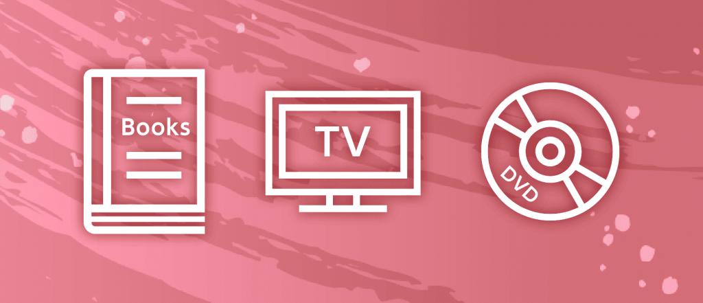 本、テレビ、DVDのイメージ画像