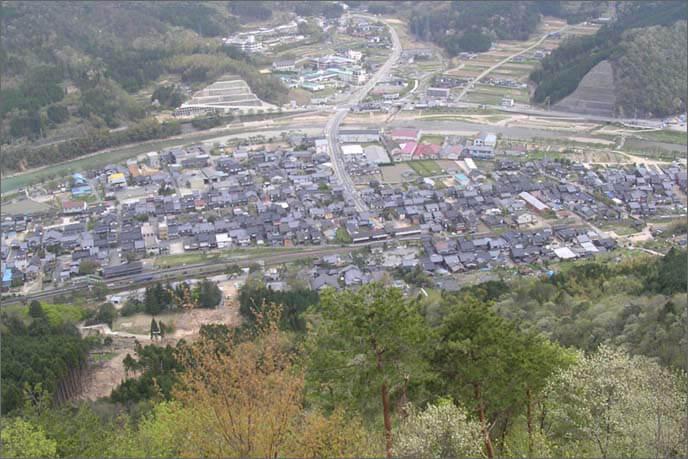 城山から見下ろした城下の画像