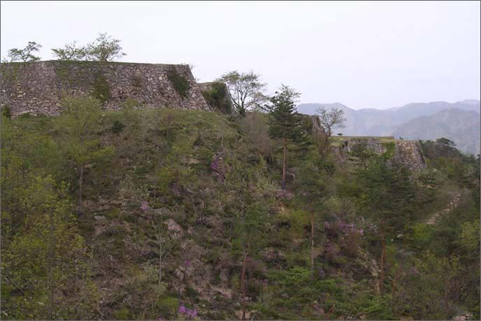 雄大な山上の石垣の画像(右)