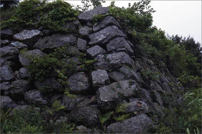 城山の石垣の画像