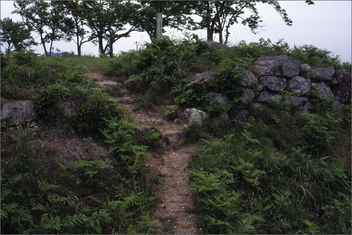 二ノ丸から石垣で固められた壇状の本丸を見た画像(その2)