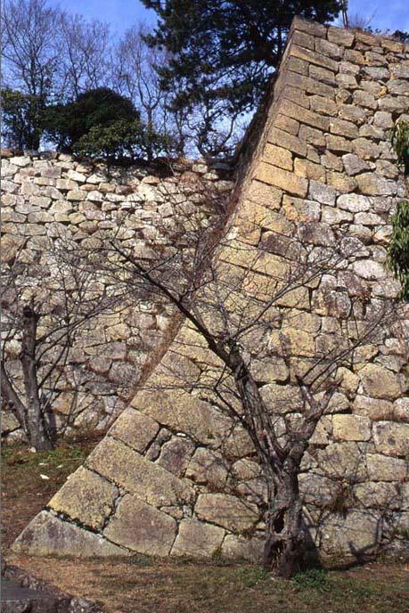 二ノ丸の南下の石垣の画像