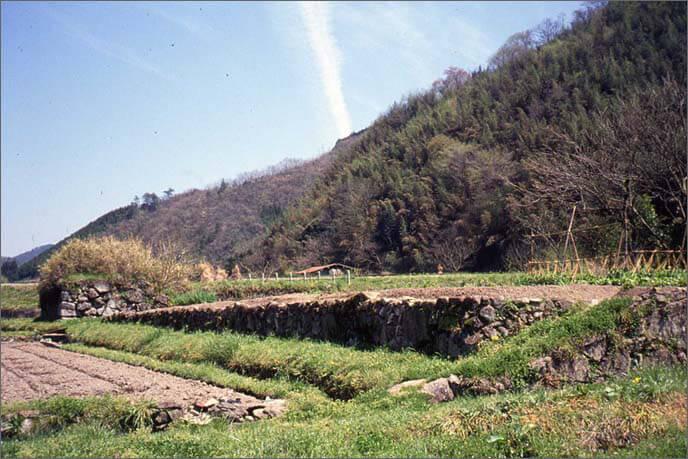 城山麓の城主屋敷の跡地の画像