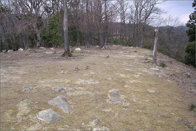 山城途中の開けた土地の画像