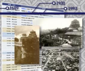 姫路城の年表図をイメージした画像