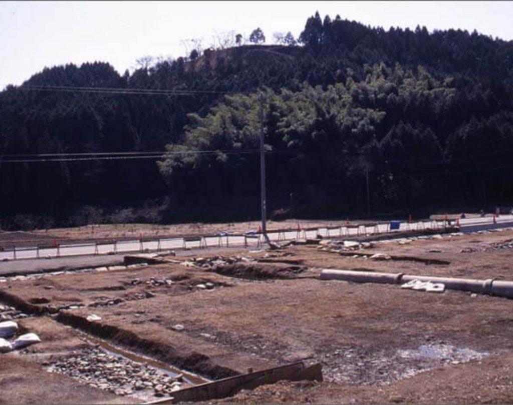 陣屋の発掘調査時の画像