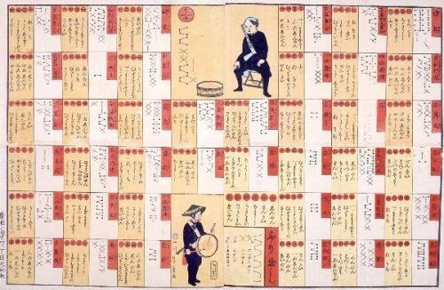 当館蔵(入江コレクション)の、歌川芳員「散兵太鼓譜附双六」 (1866年) の画像