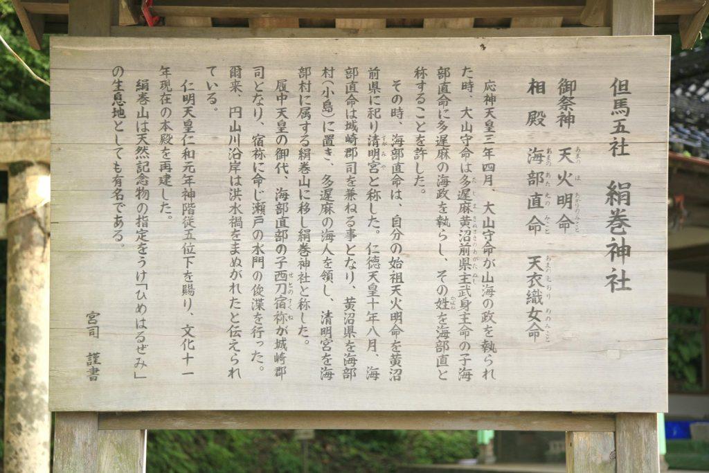 絹巻神社(看板)