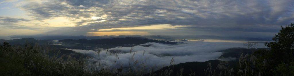 来日岳山頂からの景色