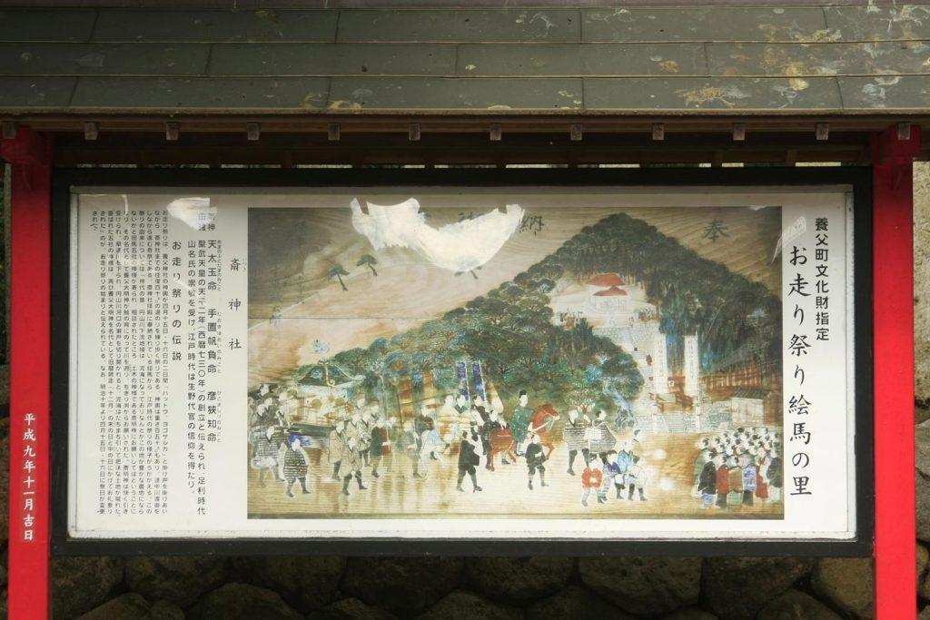 斎神社(看板 お走り祭)