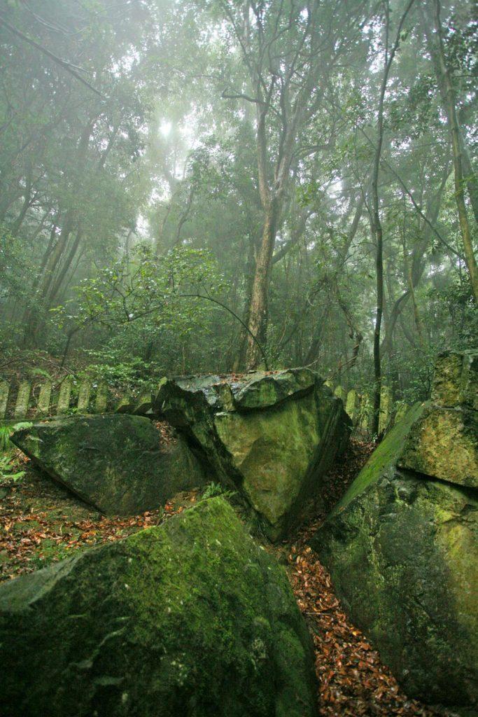 三裂した巨岩