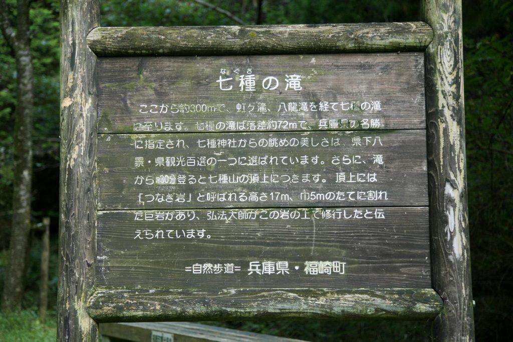 七種滝(看板)