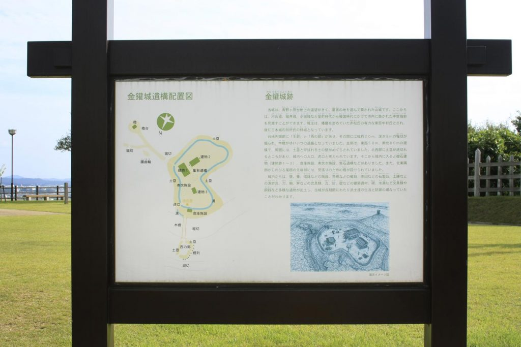 金鑵城(看板)
