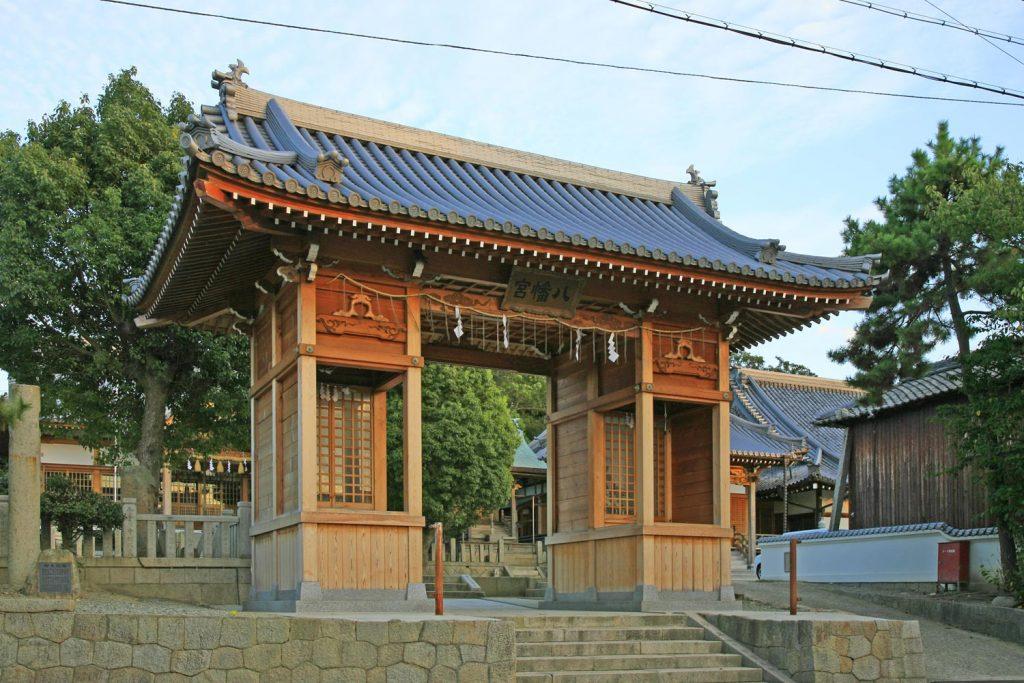 室津八幡神社(門)