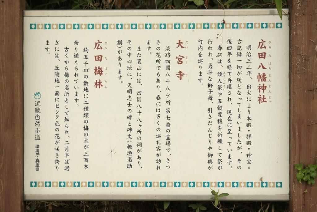 広田八幡神社(看板)