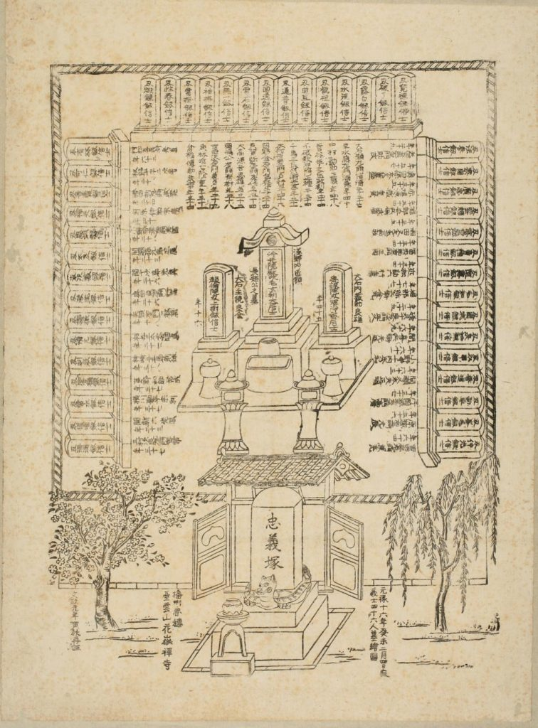 播州赤穂城下台雲山 華岳禅寺全図(義士の墓)