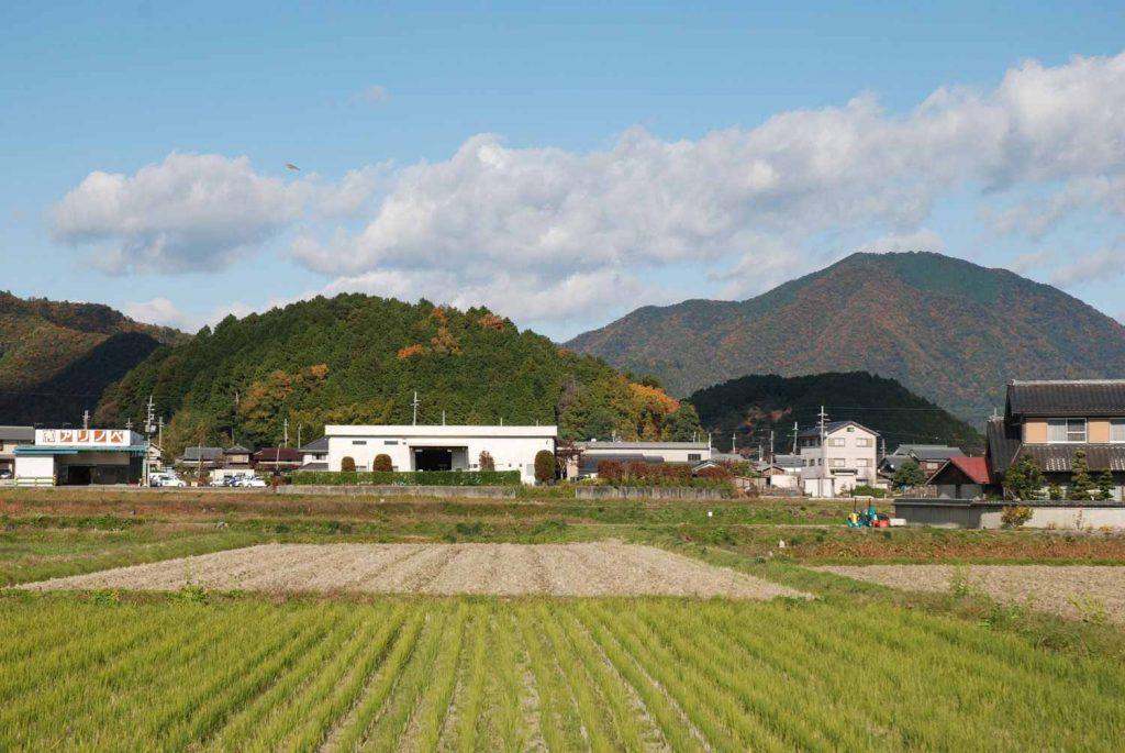 太子山(手前)と岡山(奥)