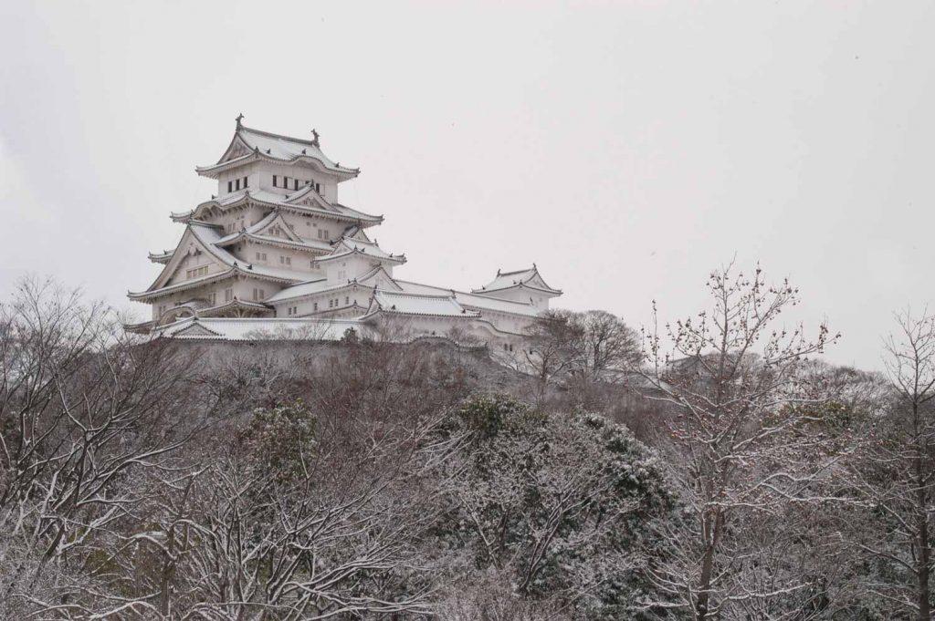 姫山の上に建つ姫路城
