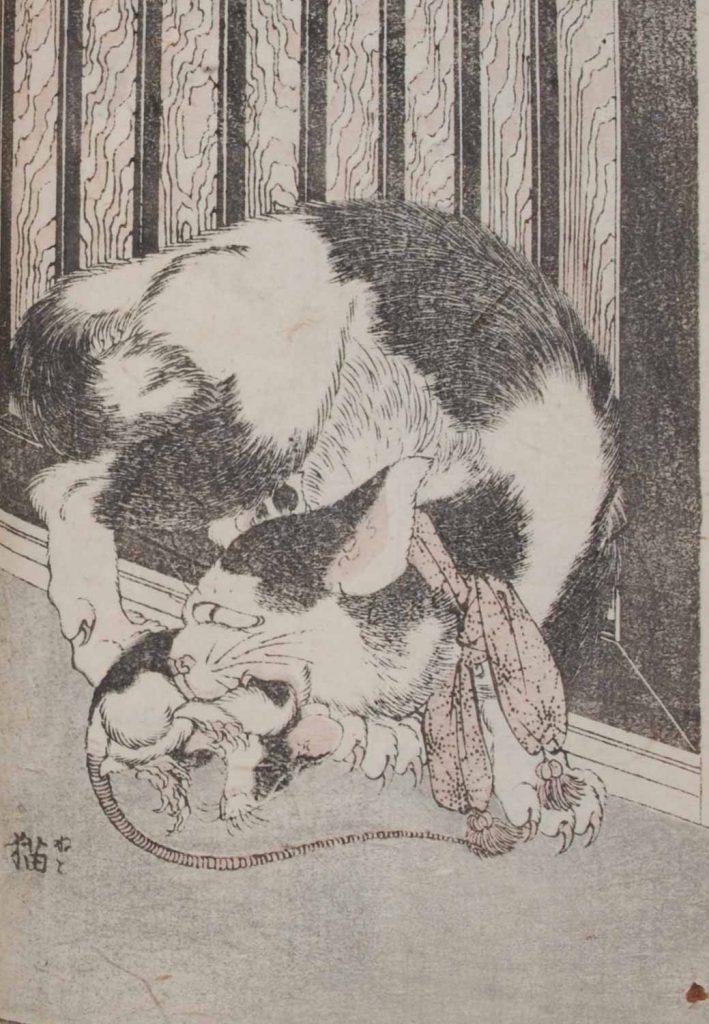 猫 (『北斎漫画』)