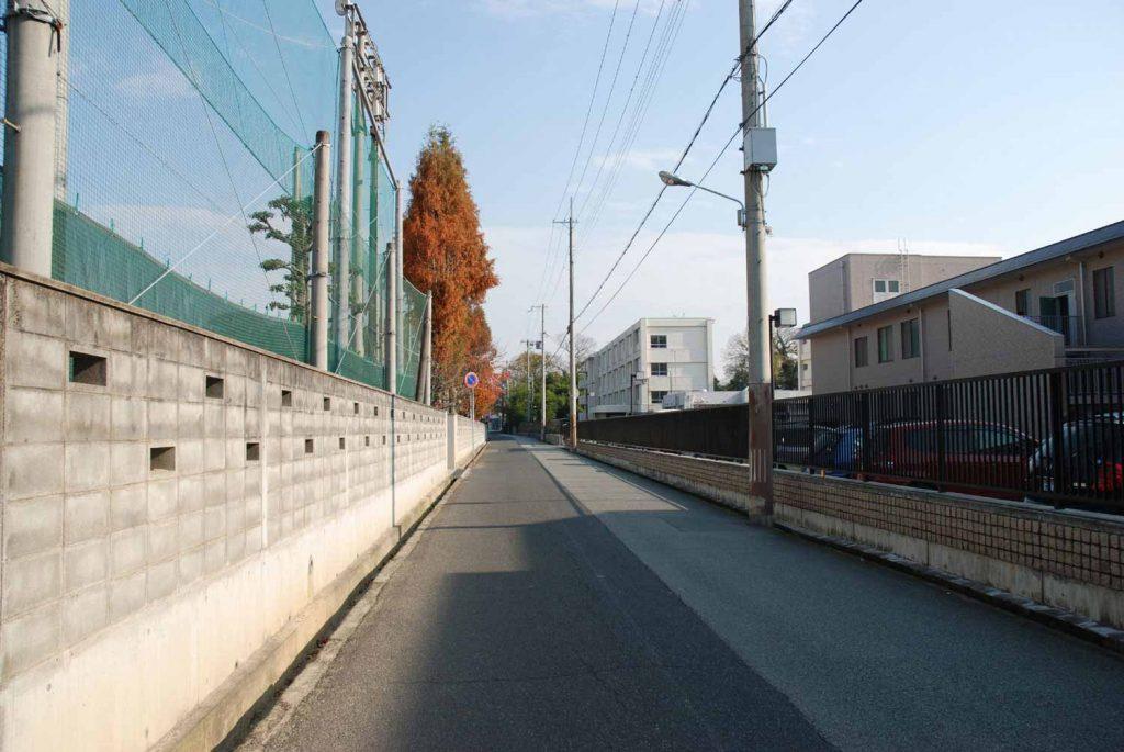 かつての梛本付近(県立姫路東高校と国立病院機構姫路医療センターの間)