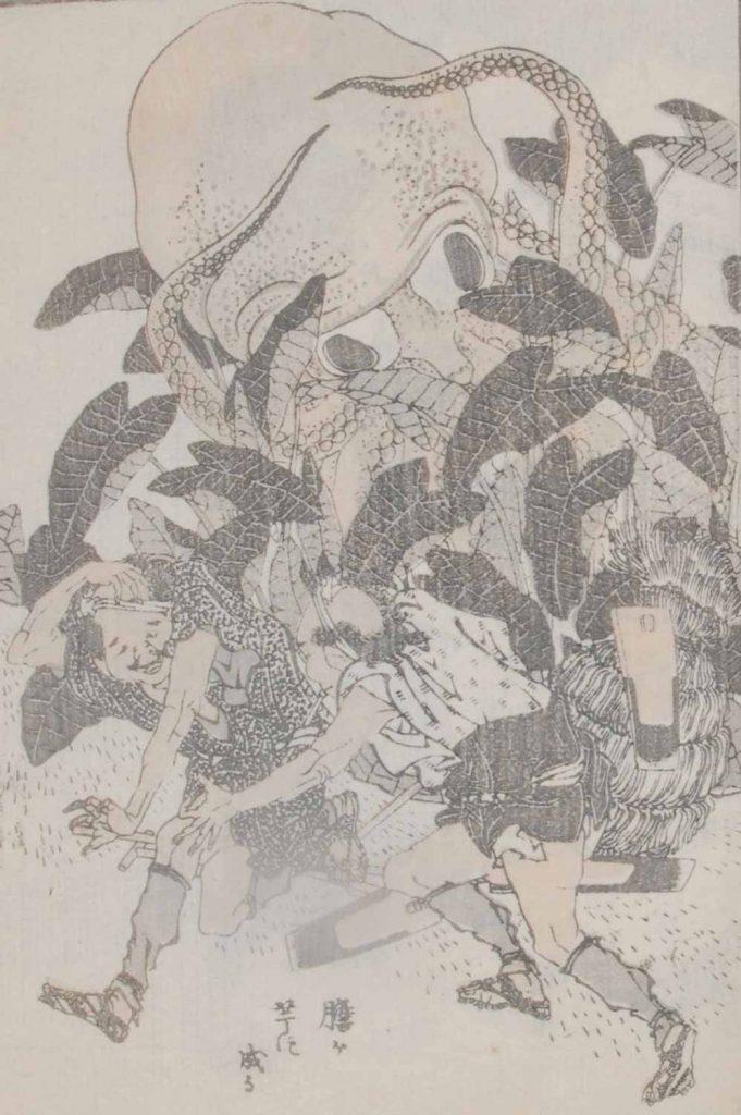 大タコ (『北斎漫画』)