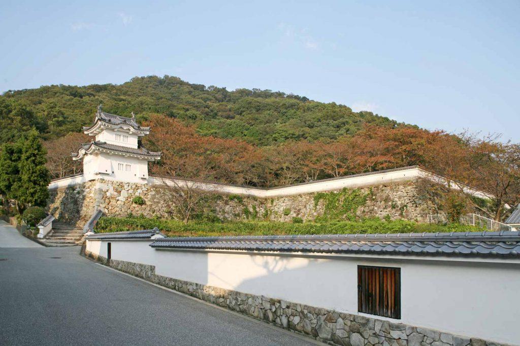 龍野城と鶏籠山