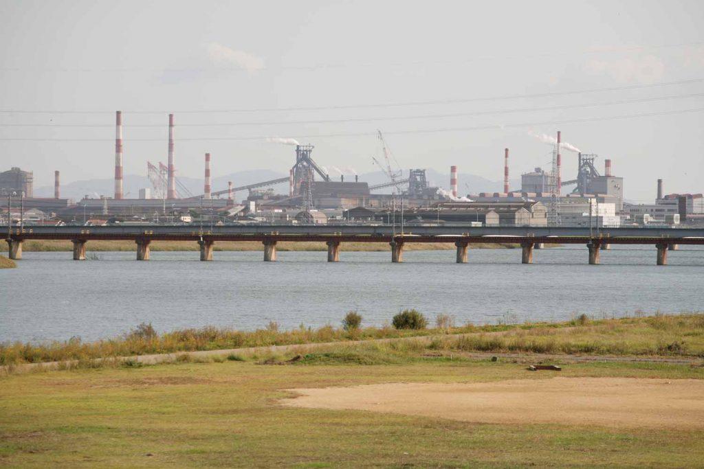加古川の河口付近