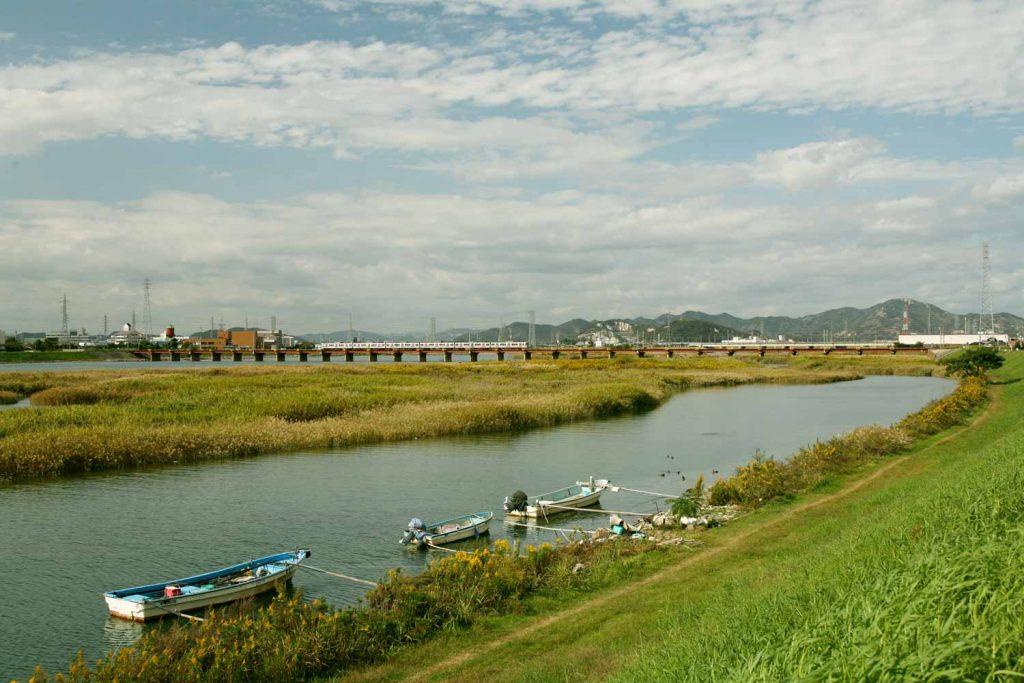 加古川下流の景観